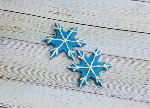 snowflake dog treat